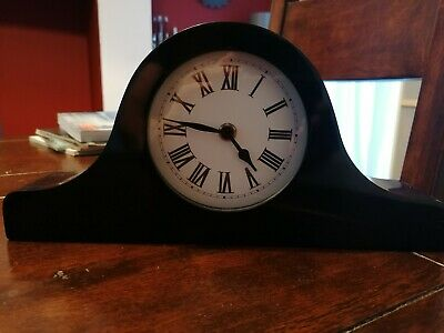 Napoleon Mantle Clock. Piano black gloss. Not working, can be repaired