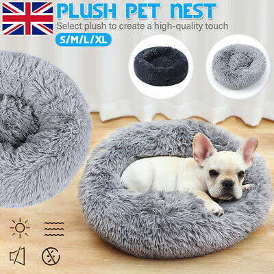 UK Comfy Calming Dog Cat Bed Pet Super Soft Plush Marshmallow Puppy Mat S - XL