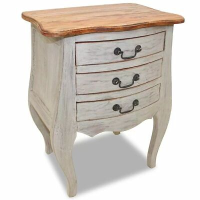 vidaXL Solid Reclaimed Wood Bedside Cabinet 48x35x64cm Nightstand Side Table
