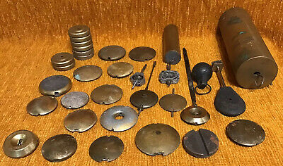 Vintage Clock Parts - Job Lot Clock Parts Antique Clocks Parts WEIGHTS PENDULUM