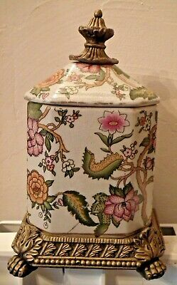 Antique Arts & Crafts Ceramic style Lidded Pot / Urn. Gothic