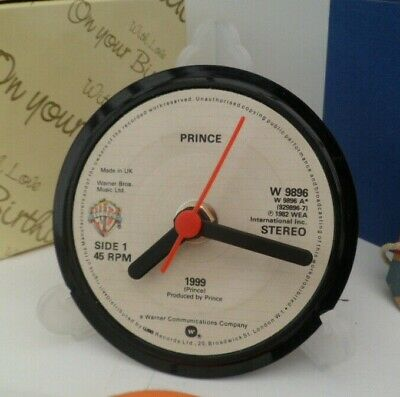 *new* PRINCE (& THE REVOLUTION) VINYL RECORD CLOCK Desk Table Top Display Stand