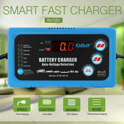 Car Battery Charger 6V 12V 120AH Intelligent Automobile Motorcycle Pulse Repair