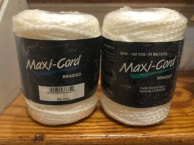 Maxi- Cord Braided Vintage Lot Of 2 6MM 100 Yards NEW