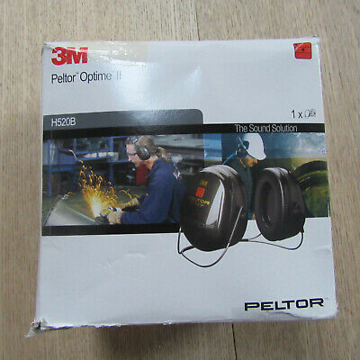 3M Peltor H520B Optime II Ear Muffs Neckband Hearing Protection.