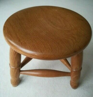 Wooden Oak 3 legged Milking Stool Solid Wood