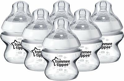 Tommee Tippee Closer to Nature Clear Baby Bottles, 260 ml, Pack of 6