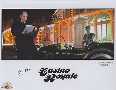 Stirling Moss HAND Signed 8x10 Photo Autograph Formula One, James Bond Casino
