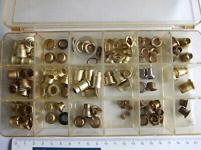 Clock centre fixing nuts, assorted sizes.  90+ for clock makers
