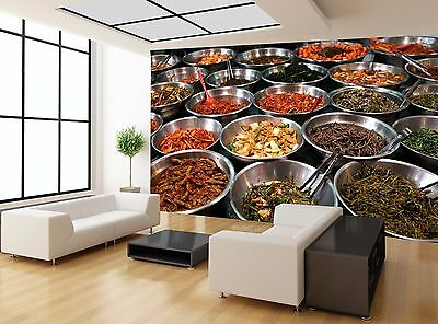 Different Colours Restaurant Food Wall Mural Photo Wallpaper GIANT WALL DECOR