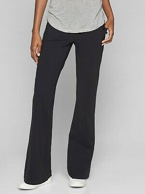 Athleta Women's Black Bettona Classic Pants Size ST Small Tall  Flare Leg Active