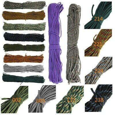 🔥 300FT Durable 550 Parachute Cord Rope Paracord Lanyard 9 Strand Core AU