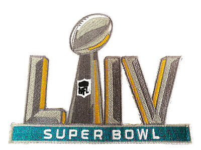 "SUPER BOWL 54 LIV 5"" Embroidered Patch 2019 - 2020 Chiefs  Iron On SHIPS FREE!"