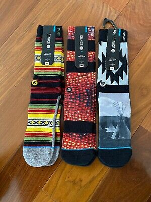 NWT STANCE MEN'S ATHLETIC SOCKS SIZE LARGE (9-12) GET ALL 3 Pairs 4 Price Of 1