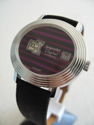 Nos New Swiss Mechanical Hand Winding Vintage Gigandet Watch 1960'S With Date