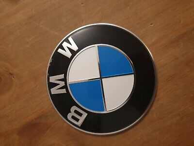 GENUINE BMW 1 2 3 4 5 6 7' X1 X3 X4 X5 PLAQUE EMBLEM BONNET BADGE 82mm 7288752