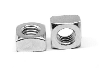 Zinc Plated Steel Square Nuts - Size 1/2-13 - Coarse - Heavy Duty