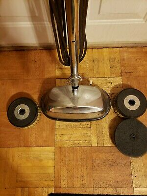 Vintage Ge Chrome Floor Buffer Polisher with extra pads. Excellent condition.