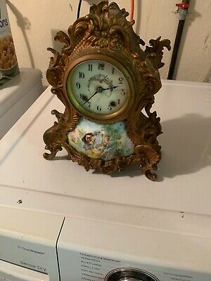 New Haven Clock Co Porcelain And Bronze? Brass? Very Heavy Antique Sevres Style