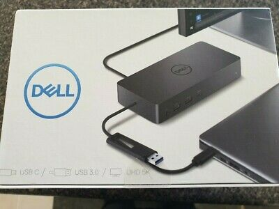 Dell D6000 USB C / 3 Docking Station with addition PSU Power Supply- new in box