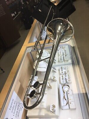 Bach hOss Silver Trombone W/ Original Hard Case W/ Accessories
