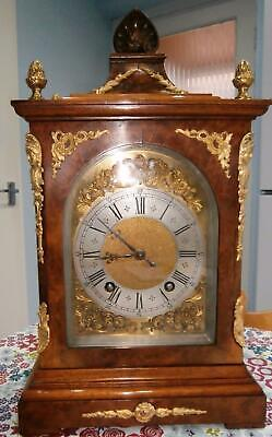 Lenzkirch Burr Walnut & Bronze Ting Tang Bracket Clock in G.W.O.