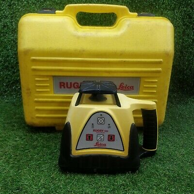 LEICA RUGBY 100 Rotating Laser Level With Case. GWO . FREE P&P '2255