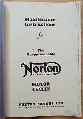 Norton Motorcycles - Instructions , Guide , Manual - ENG