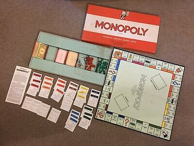 Monopoly Board Game By Waddingtons Vintage 1970s Edition 100% Complete