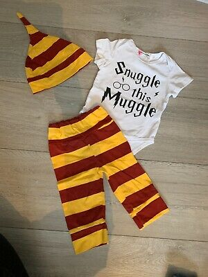 Symphony Baby Boys Girls Snuggle This Muggle Bodysuit and Striped Pants Outfit with Hat