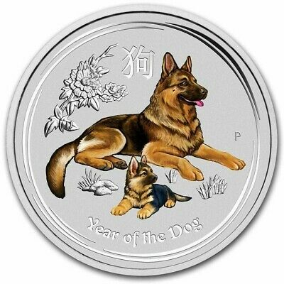 2018 1/10 oz Lot of 20 Sealed Colored Silver .999 Australia Lunar of the dog