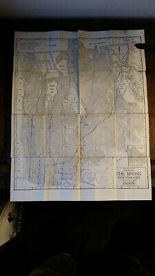 1920 Antique Vintage Map Borough Of The Bronx New York City - Interstate Map Co.