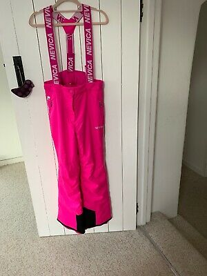 Nevica Girls pink Ski Salopettes / Trousers Age 13