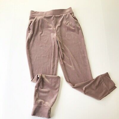 GAP KIDS NEW Youth Girls Size Medium 8 Blush Pink Cruched Velvet Jogger Pants R2