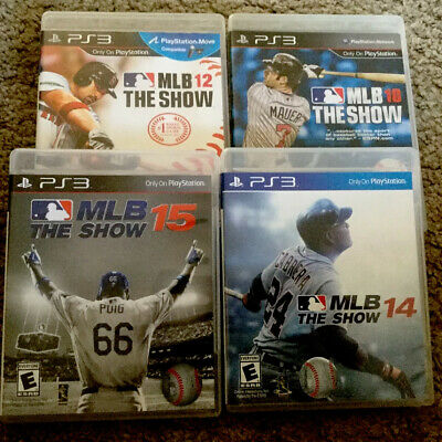 Lot of 4 MLB The Show 10, 12,14, 15 (PS3, Playstation 3) FAST SHIPPING!