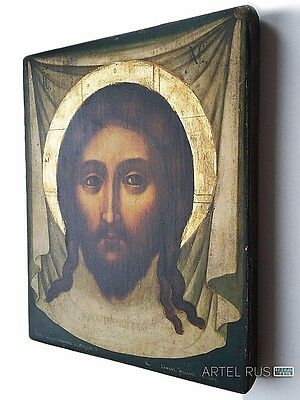 Copy of an antique Russian Orthodox icon Holy Face Jesus Christ Decor home. Gift