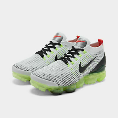 Nike Air Vapormax Flyknit 3 Running Shoes White / Black / Vol Sz 10.5 AJ6900 100