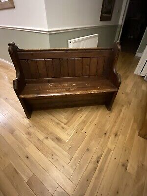 antique church pew bench