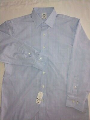 1818 Regent Brooks Brothers Mens Check LS Button-Down Shirt 15.5 34//35 $79 NWT