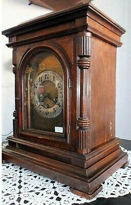 BIG Antique Junghans German Westminster Clock 8 Day Melody