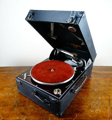 Antique Columbia Grafonola 112A Gramophone Portable Wind Up Record Player 1920s