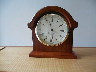 Westminster Clock Company, 1970/80's, Arched, Mahogany Cased Mantle Clock,Quartz