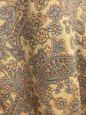 Unusual XS-S 1950-60s VTG Qipao Cheong Sam Chinese Dress- Fine Wool - Paisley