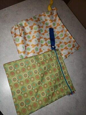 2 Travel Wet Bags Cloth Diapering
