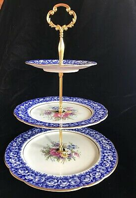 Gorgeous 3 Tier Serving Tray Made From Antique Plates