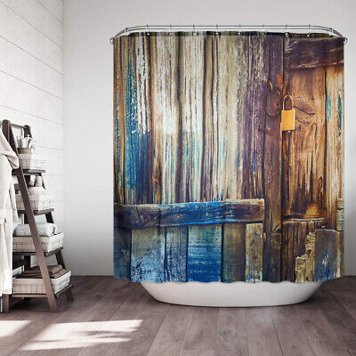 COW PIG ROOSTER SHOWER CURTAIN Country Cabin Barn Farm Life Rustic Bath Decor