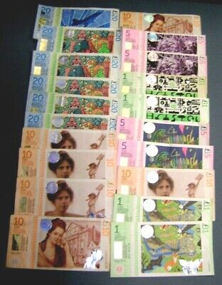 Bristol Pound - Transition Town - 20 Banknotes 1st & 2nd Issues VF - UNC # 0620