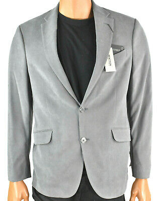 Reaction Kenneth Cole Mens Gray Sports Coat Suit Blazer New 40R 2 Button