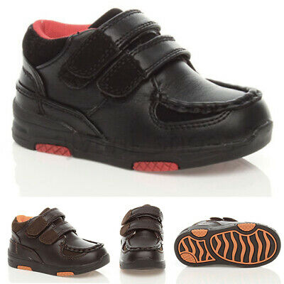 Boys Unisex Childrens Kids Hook&Loop Padded Casual School Shoes Boots Size
