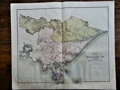 Victoria:     Map of the Counties of Evelyn. Tanjil, Buln-Buln. 1886.